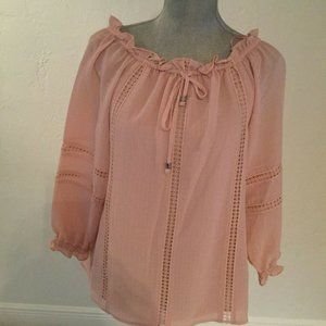 NWT Michael Kors women pink blouse size small